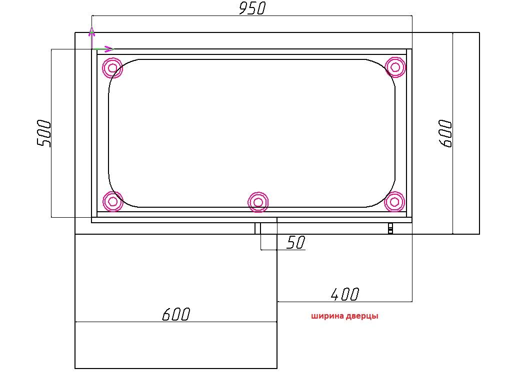 угловой шкаф под мойку размеры чертежи