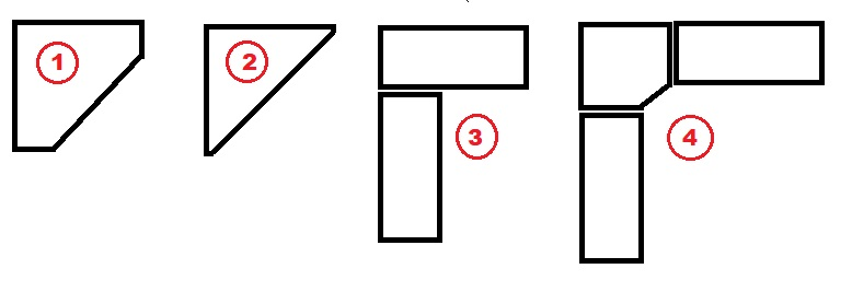 схемы угловых шкафов-купе