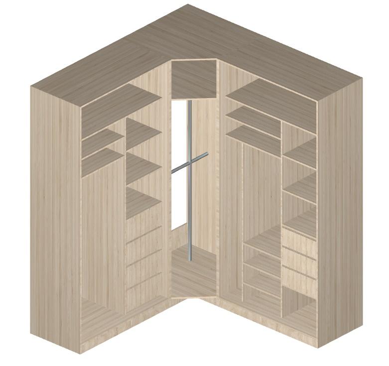 угловой шкаф-купе для гостиной