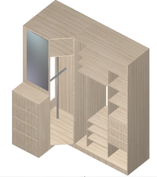 угловой шкаф-купе для прихожей