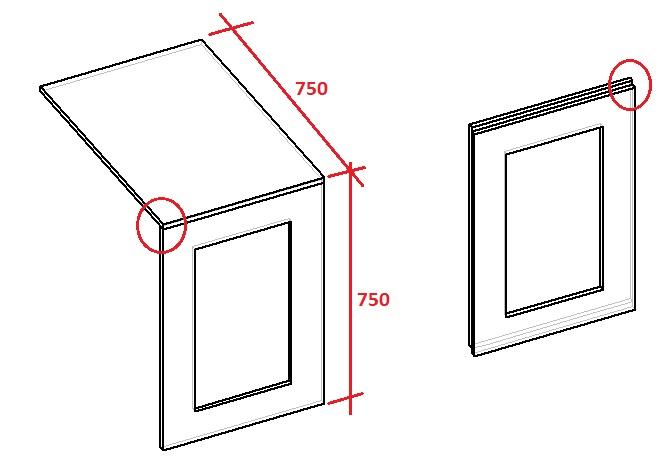 схема настенного откидного стола для кухни