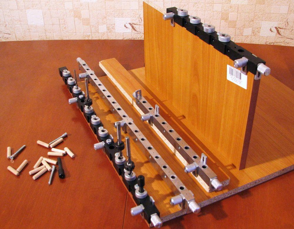 Сверлильные мебельные шаблоны и кондукторы для разметки корпуса