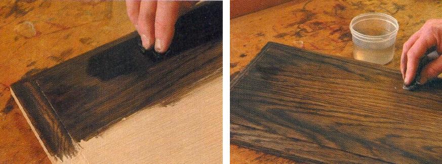 как состарить мебель своими руками с помощью морилки