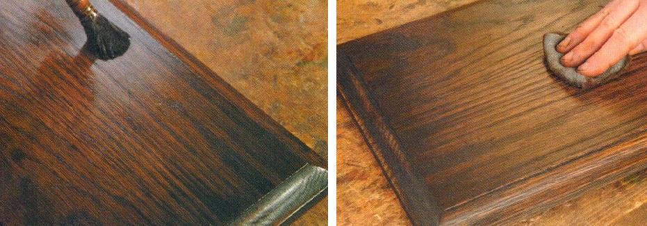 как состарить мебель своими руками - финишное покрытие грунтом и воском